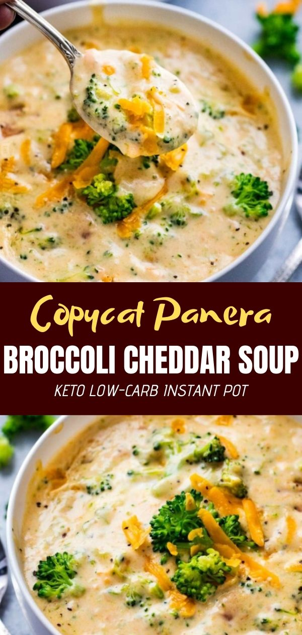 Keto Low-Carb Instant Pot Copycat Panera Broccoli Cheddar Soup