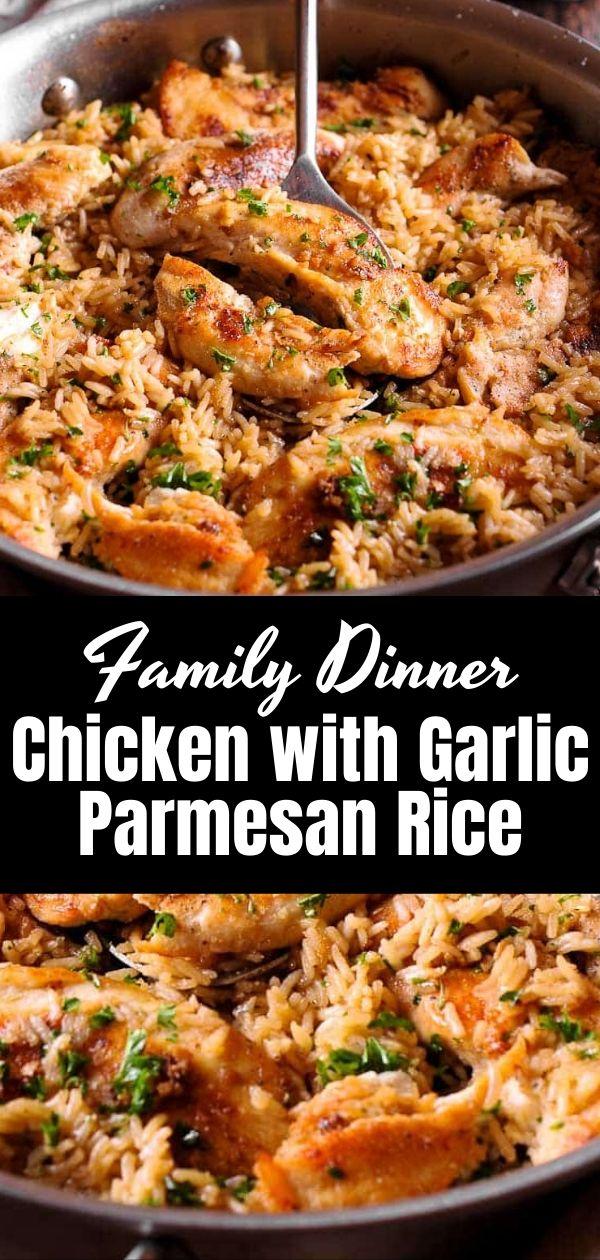 Chicken with Garlic Parmesan Rice 3