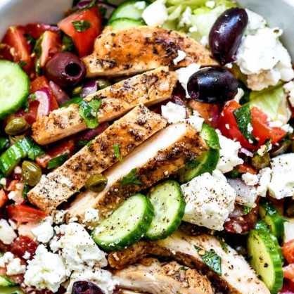 Greek Salad with Chicken 1