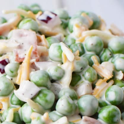 Pea Salad with Cheese 1