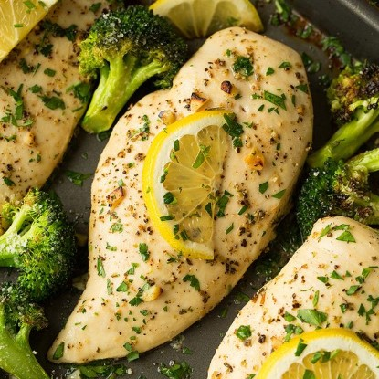 Sheet Pan Lemon Chicken and Broccoli