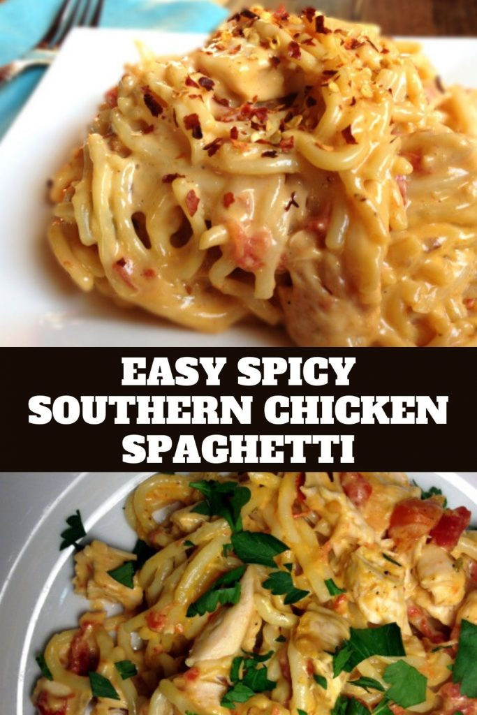 Easy Spicy Southern Chicken Spaghetti (1)