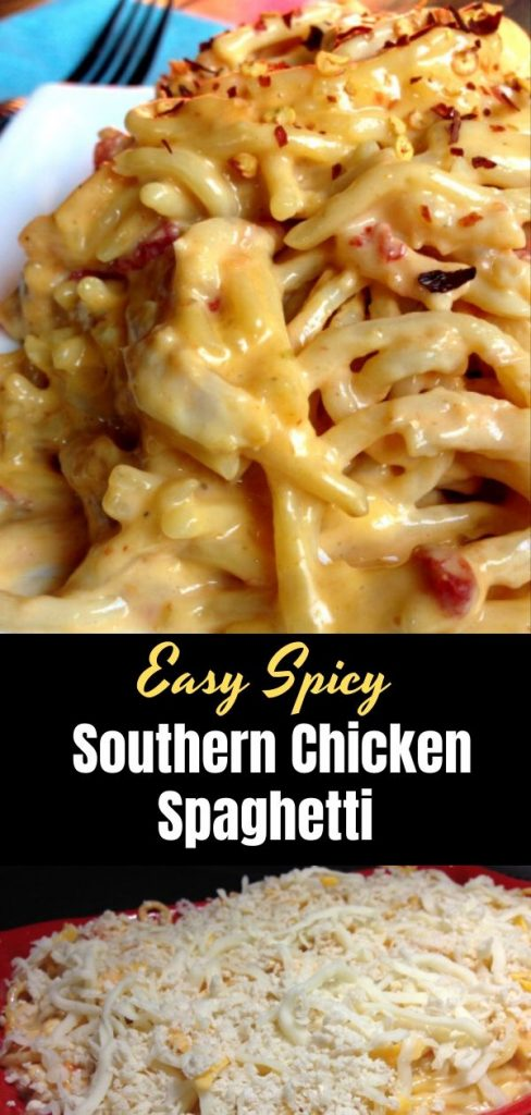 Easy Spicy Southern Chicken Spaghetti (2)