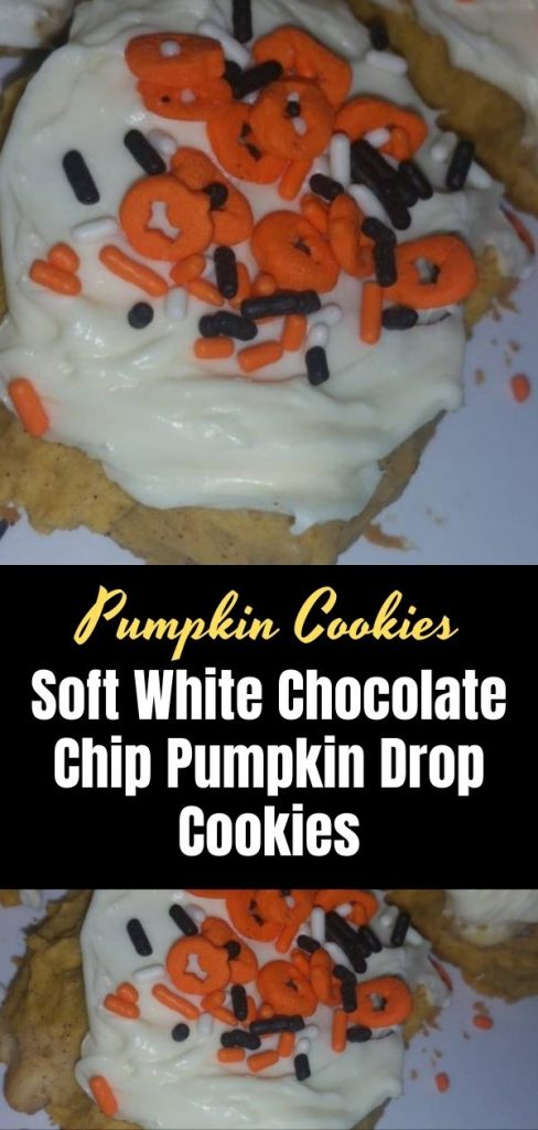 Soft White Chocolate Chip Pumpkin Drop Cookies (1)
