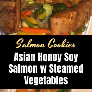Asian Honey Soy Salmon w Steamed Vegetables (1)