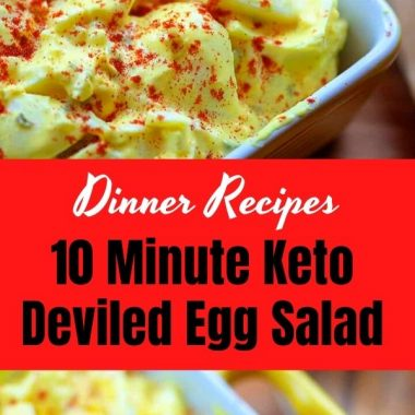 10 Minute Keto Deviled Egg Salad (2)