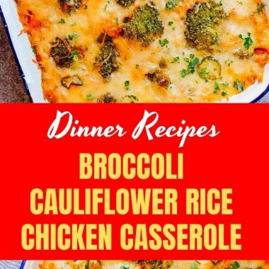 BROCCOLI CAULIFLOWER RICE CHICKEN CASSEROLE (1)