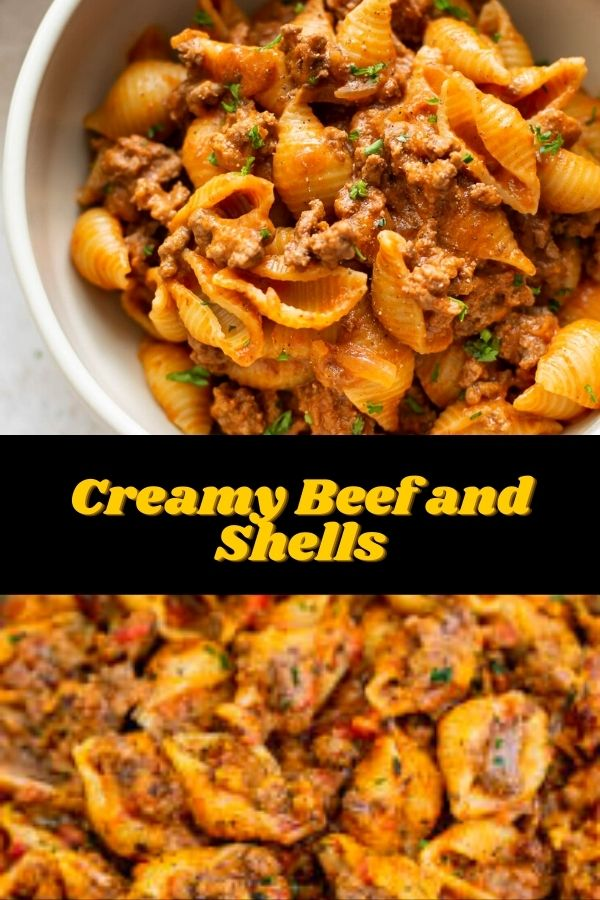 Creamy Beef and Shells (1)