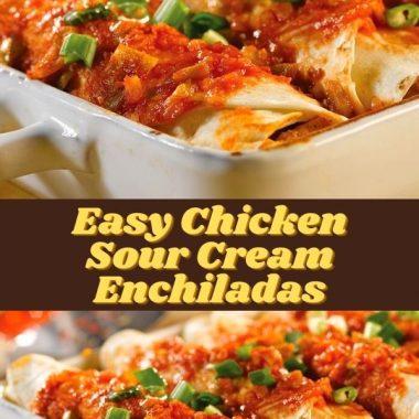Easy Chicken Sour Cream Enchiladas (2)
