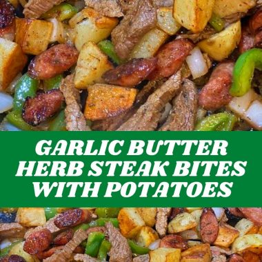 GARLIC BUTTER HERB STEAK BITES WITH POTATOES #recipes #foodrecipes #easyrecipes