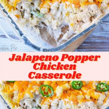 Jalapeno Popper Chicken Casserole Dinner