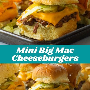 Mini Big Mac Cheeseburgers #dinnerideas #dinnerrecipe