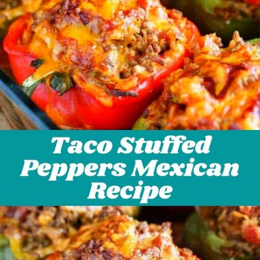 Taco Stuffed Peppers Mexican Recipe #healthyrecipe #healthysouprecipe #healthy #healthyfood #healthylifestyle