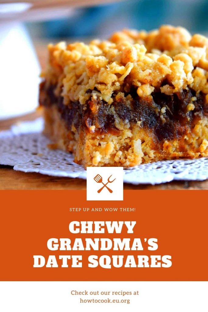 Chewy Grandma's Date Squares #cake
