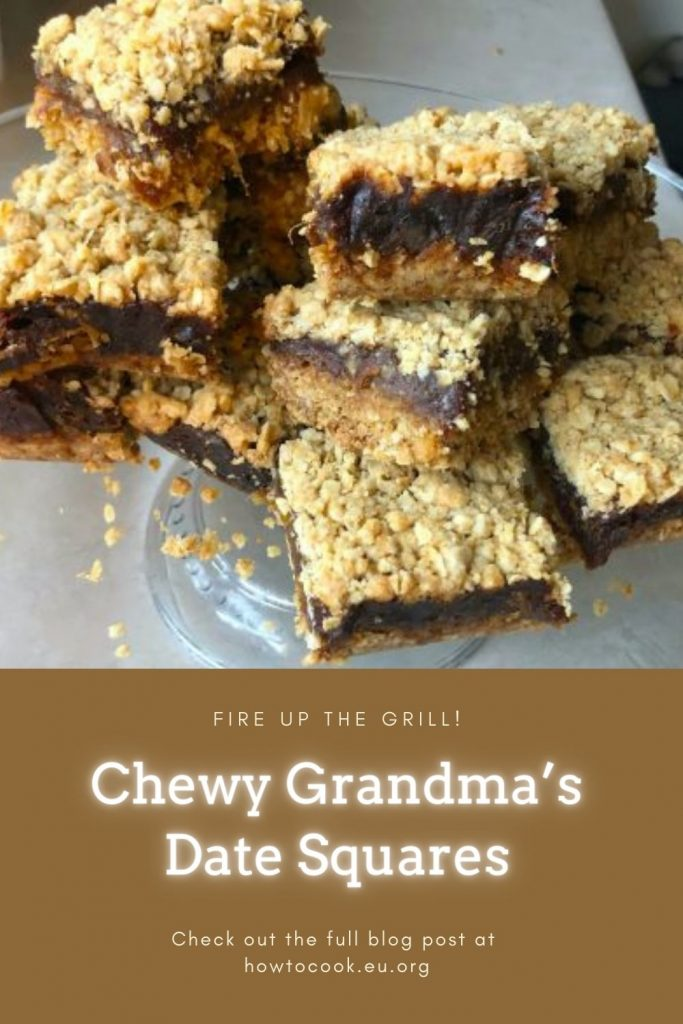 Chewy Grandma's Date Squares #desserts