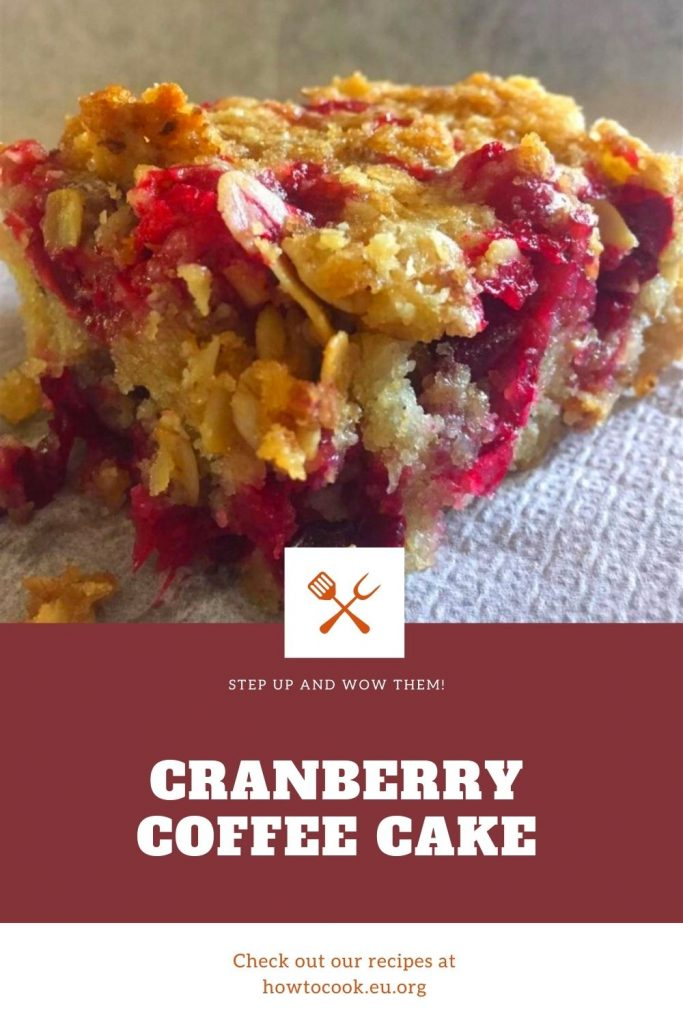 Easy Cranberry Coffee Cake #easycranberry
