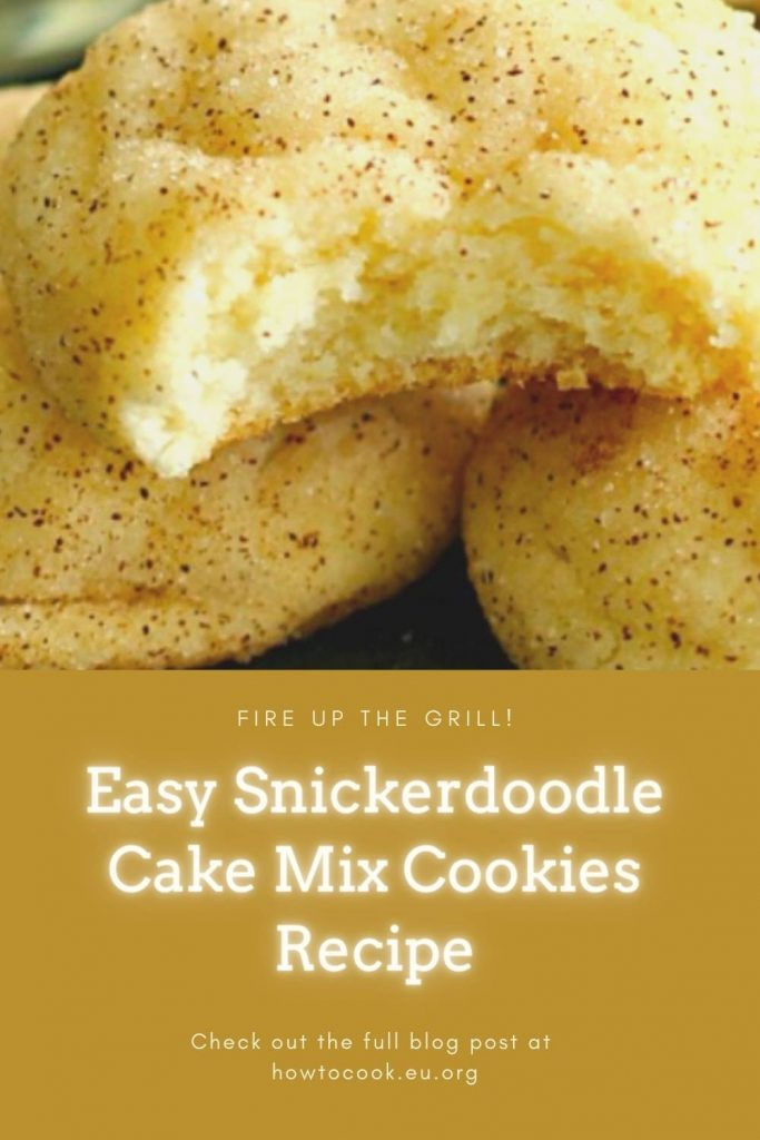 Easy Snickerdoodle Cake Mix Cookies Recipe (1)