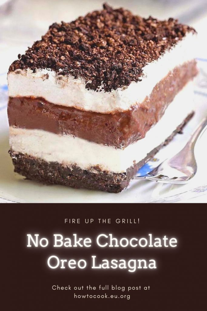 Easy No Bake Chocolate Oreo Lasagna Recipe