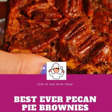 Best Ever Pecan Pie Brownies #Pecan #Pie #Brownies