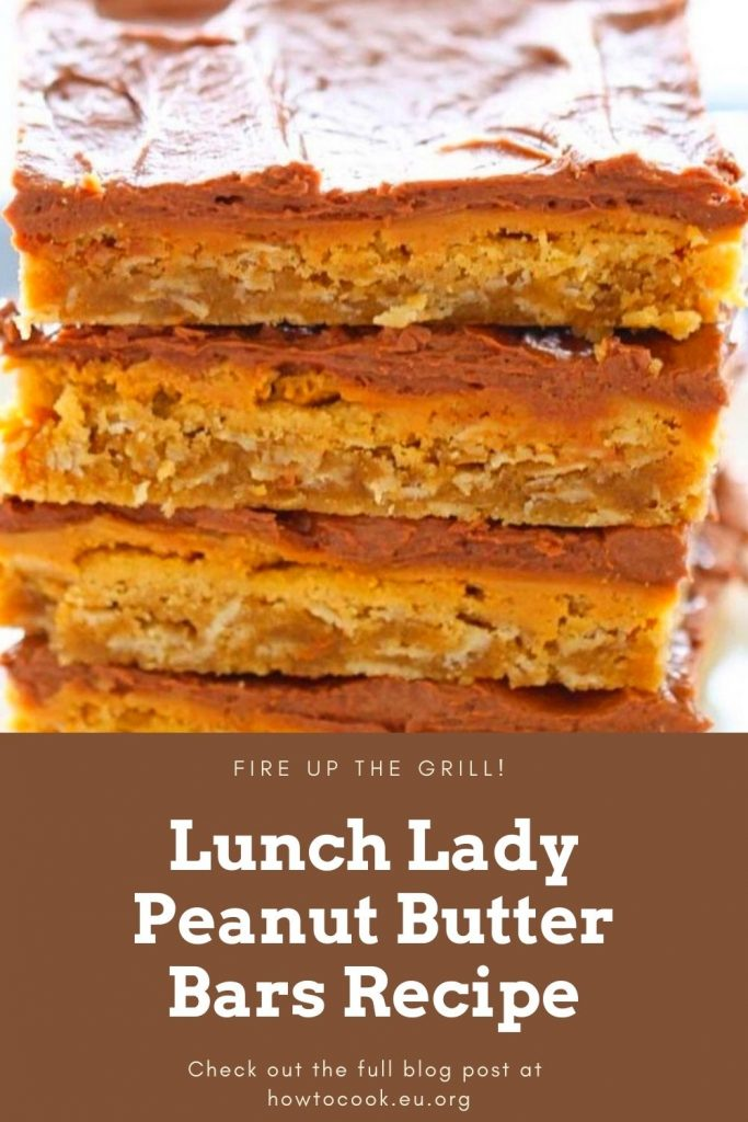 Lunch Lady Peanut Butter Bars Recipe #Lunch #Lady #Peanut #Butter #Bars #Recipe