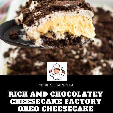 Rich and Chocolatey Cheesecake Factory Oreo Cheesecake Recipe #Richand #Chocolatey #Cheesecake #FactoryOreo #Cheesecake