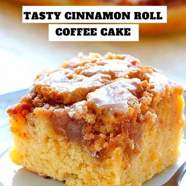 Tasty Cinnamon Roll Coffee Cake #Tasty #CinnamonRoll #Coffee #Cake