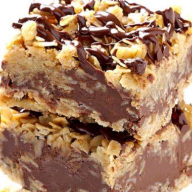 Easy No Bake Chocolate Oatmeal Bars Recipe.
